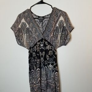 Angie Women's Paisley Top Size S